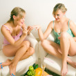 Girls having a casual chat while — Stock Photo #5056971