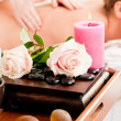 Woman enjoying a massage in a — Stock Photo #5056998