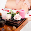Stock Photo: Woman enjoying a massage in a