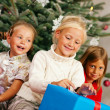 Family Christmas - three — Stock Photo