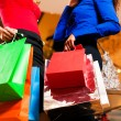 Two women in a shopping mall — Stock Photo #5057263