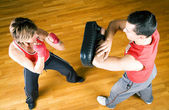 Boxing couple — Stock Photo