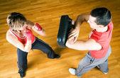 Boxeo pareja — Foto de Stock