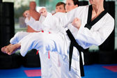 In een sportschool in martial arts — Stockfoto