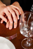Couple, just hands to be seen — Stock Photo