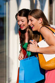 Two women being friends — Stock Photo