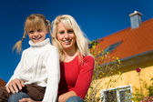 Mother and daughter sitting in — Stock Photo