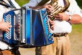 Banda tradicional bávara com — Fotografia Stock