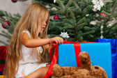 Cute Child with teddy bear toy — Stock Photo