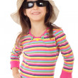 Smiling little girl in sunglasses — Stock Photo