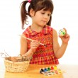 Royalty-Free Stock Photo: Little child painting the easter eggs