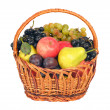 Wicker with fruits — Stock Photo