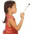 Little girl with a paintbrush — Stock Photo #4886669