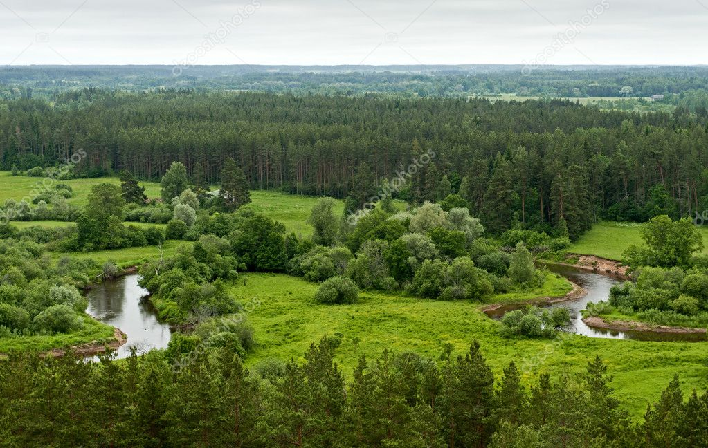 The Gauja River in south Estonia on Latvia border — Stock Photo #5140967