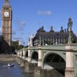 Big Ben and Westminster Bridge — Stock Photo