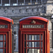 Stock Photo: Red telephones