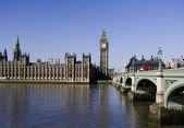 Big Ben and Westminster Bridge — Stock Photo