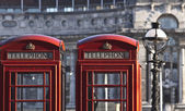 Red telephones — Stock Photo