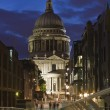 St Paul`s Cathedral at night - Stock Photo