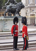 Queens guards — Stock Photo