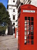 Red telephones — Stock Photo