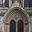 Entrance to Catholic church — Stock Photo