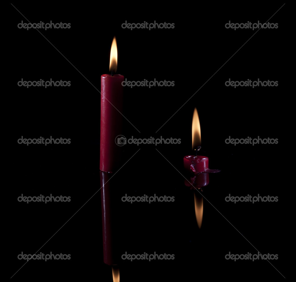 Candles on black background. Taken in studio  Stock Photo #5016129