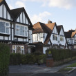 Stock Photo: Tudor style houses in London