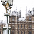 Westminster Palace  before Christmas in London — Stok fotoğraf