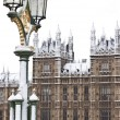 Westminster palace innan jul i london — Stockfoto