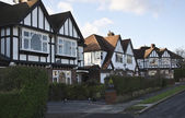 Tudor style houses in London — Stock Photo