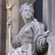Queen Anne's Statue at St. Paul's Cathedral - Stock Photo