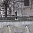 Fountains near St. Paul`s Cathedral - Stock Photo