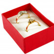 Stock Photo: Rings in box