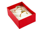 Rings in box — Stock Photo
