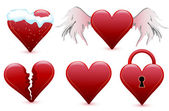 Set hearts, valentine's day — Stock Vector