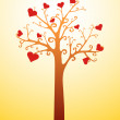 Stock Vector: Tree with hearts
