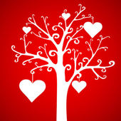 Valentine's day tree hearts — Stock Vector
