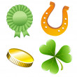 St. Patrick's Day set vector illustration — Stock Vector