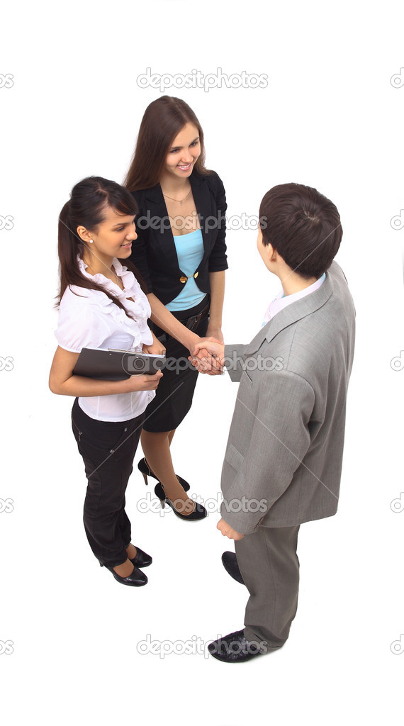 Business shaking hands, finishing up a meeting — Stock Photo #4941180