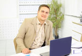 The young business man at office — Stock Photo