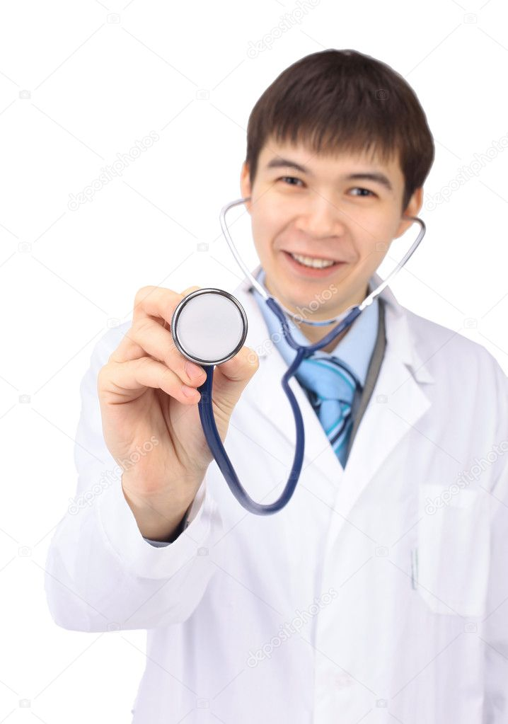The man the doctor on a white background — Stock Photo #5311885