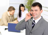 Usiness command(team) at modern office — Stock fotografie