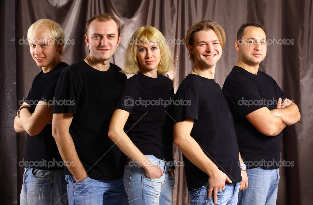 Group of the on a dark background — Stock Photo #5365656