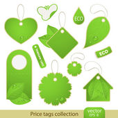 Vector set: tags - ECO — Stock Vector