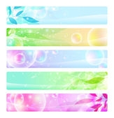 Glossy banners colorful, headers — Stock Vector