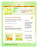 Ecological or spring web site design template — Stock Vector