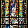 Biblical stained glass — Stock Photo