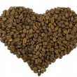 Stock Photo: Coffee Beans in Form of Heart