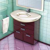 Bathroom cabinet — 图库照片